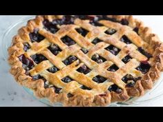 An easy blueberry pie recipe with warm spices, lemon and a lattice crust. Plus, tips for making the filling with fresh or frozen blueberries.
