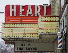 Neon. Art Deco. Movies. I Heart The Heart!   photo by Jim Good.