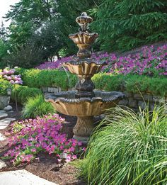 Landscaping around Fountains