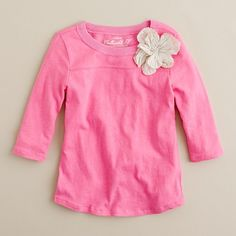 Girls' petal pusher tee
