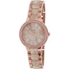 Fossil Women's Virginia ES3965SET Rose Gold Stainless-Steel Quartz Watch Sale