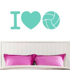 Sweetums I Love Volleyball Wall Decal 36-inch x 13-inch