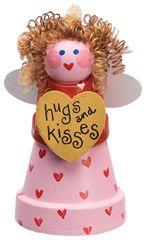 DIY Cute Clay Pot Love Fairy | Valentines Day Idea