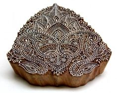 Intricate Wooden Indian Hand Carved Textile BLock Printing Stamp