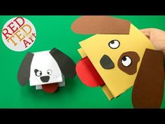 Paper Dog Hand Puppet - Red Ted Art's Blog