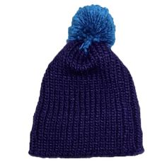 KNIT HAT - 2 Toned Blue - Attached Fuzzy Ball NEW WITHOUT TAGS! Dark blue base with a neat dark teal-ish blue colored fuzz ball on the top of the head! Thick & extremely cozy! Extra strip of lining inside of hat to protect ears. ❌TRADES❌ Xhilaration Accessories Hats
