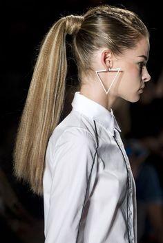 L'Orèal Runway Hair + Pamela Love Earrings S/S 2013 #NYFW