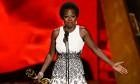 Viola Davis gives stirring speech after historic win at 2015 Emmys - video   Television & radio   The Guardian