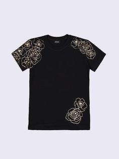 KIDS DieselTM T-shirts and Tops 00CZJ - Black - 14Y Shop Now, Men Fashion, Mens Tops, T Shirt, Clothes, Shopping, Black, Kids, Moda Masculina