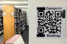 This QR Code leads you to our PC booking software. Notice the nifty way the code has mini PCs in it? Past Exam Papers, Library Services, Libraries, Nifty, Schools, How To Find Out, Software, Mini, Qr Codes