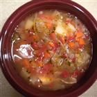 Turkey carcass soup.  Next project after today's turkey and whole wheat dumplings.