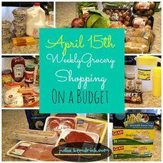 Julia Kendrick.com: April 15th: Grocery Shopping on a Budget & Weekly Menu...