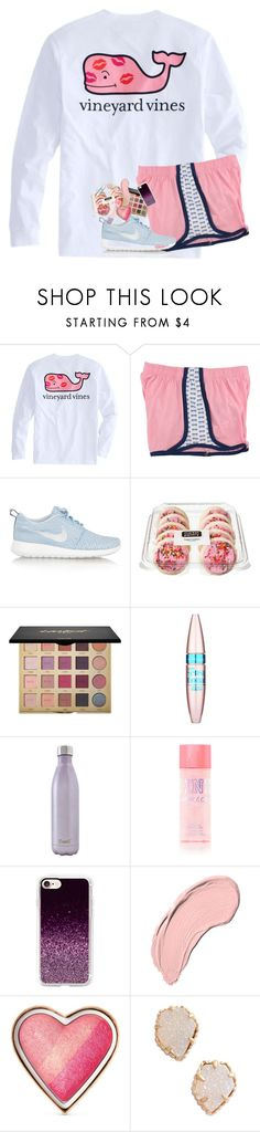 """happy valentines day/single awareness day"" by lindsaygreys ❤ liked on Polyvore featuring NIKE, tarte, Maybelline, S'well, Casetify, NYX, Too Faced Cosmetics and Kendra Scott"