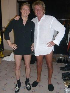 Bryan Adams & Rod Stewart.....there's those 'HOT LEGS'!!