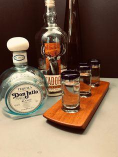 Tequila Flight – Tequila Tasting Flight – Solid Mahogany Flight Blue Rim Handblown Shot Glasses – Serving Tray Set – Can Be Personalized – Food: Veggie tables Tequila Tasting, Tequila Bar, Whisky Tasting, Tequila Shots, You And Tequila, Shot Glasses, Bartender, Gifts For Him, Liquor