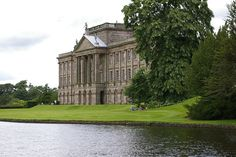 Lyme Hall at Lyme Park in Cheshire, England. This location served as Pemberley (Mr Darcy's estate) in the 1995 adaptation of Pride and Prejudice by the BBC.