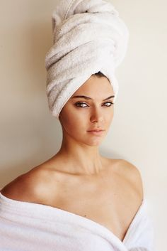 Kendall Jenner photographed for Mario Testino's Towel Series.