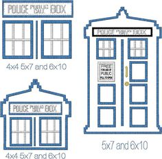 Doctor Who Inspired Tardis Designs by MyBabeInTheHood on Etsy, $5.00