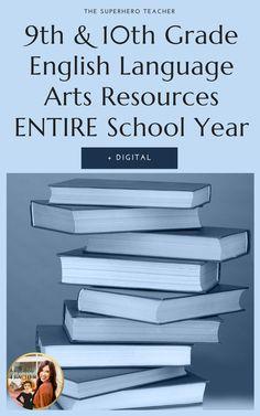 10th Grade English, High School English, Informational Writing, Persuasive Writing, Student Data Tracking, Superhero Teacher, 8th Grade Ela, Literary Elements, Research Writing