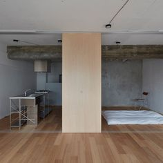 To make better use of space inside this small Tokyo flat, local studio FrontOfficeTokyo replaced almost all of the walls with multi-functional box units and a series of sliding partitions. The apartment, which measures 50 square metres, is located in the Akasaka neighbourhood of Tokyo. It was originally constructed in the 1970s and, like many apartments of its kind in the city, it was built wit..