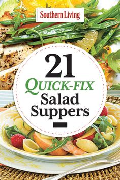 21 Quick-Fix Salad Suppers | Lighten up your dinner with delicious recipes for chicken, pork, beef, and chopped salads.