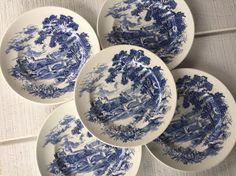 Antique Blue and white china Vintage Wedgewood by 1350Northvintage