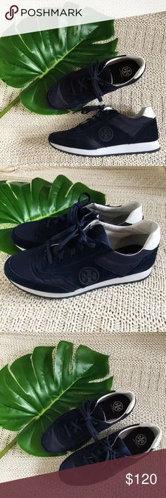 Tory Burch Navy Blue Sneakers Tory Burch navy blue suede sneakers in excellent condition! Unfortunately no box. Let me know if you have any questions! :) Tory Burch Shoes Sneakers