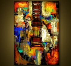 Original Painting  Modern Abstract Art by SLAZO  24x36 by SlazoArt, $350.00