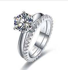 2 CT Diamond Wedding Engagement Ring Bridal Set  by JacolizJewelry, $279.00