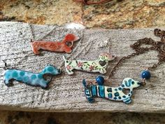 Torched fired glass enamel Dotsy