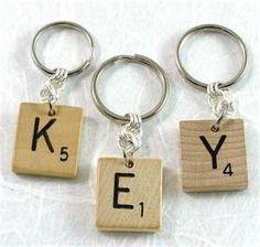 scrabble keychains