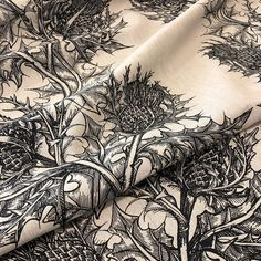 - TB Thistle Fabric in Black handprinted on to Linen.This design is also available in colours Beetroot, Navy Blue, Red, White and Olive Green. Timorous Beasties, Beetroot, Green Fabric, The Guardian, Olive Green, Navy Blue, Tapestry, Colours, Photo And Video