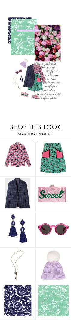 """""""#810"""" by joktojotta ❤ liked on Polyvore featuring Gucci, Hush, Edie Parker, BaubleBar, Monki, Topshop and vintage"""