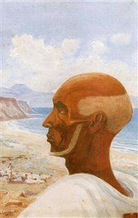 Portrait du cheik Issa, 1939, Henry de Monfreid