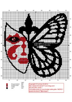 OK THIS IS A LITTLE CREEPY TO ME, BUT I REALLY LIKE THE BUTTERFLY SIDE, I'LL JUST MAKE A FULL BUTTERFLY!! Masque papillon