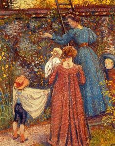 Picking Fruit, Georges Lemmen (1865 – 1916, Belgian)