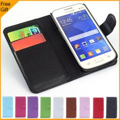 Luxury Wallet Leather Flip Cover Phone Case For Samsung Galaxy Star 2 Plus Galaxy Star Advance Cover Back Case With Card Holder