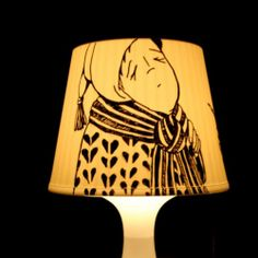 Lamp with Posca pen and IKEA lamp...not sure what Posca pen is but I will find out I am soo doing thing!