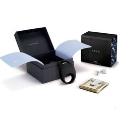Lelo Pino Gift Set - Luxurious vibrating Cock Ring, with gift set that includes cufflinks & money clip!