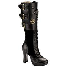 Cuffed Steampunk Boots - FW2032 from Dark Knight Armoury