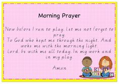 Four classroom prayer posters. One prayer poster for beginning of the day, morning tea, lunch and end of day prayer. Posters are made in ready to print. Morning Prayer For Kids, End Of Day Prayer, Morning Prayers, Back To School Prayer, Kids Prayer, Back To School Quotes, Preschool Bible, Preschool Lessons, Preschool Activities