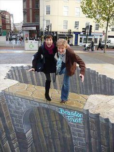 Sidewalk Perspective Chalk Art