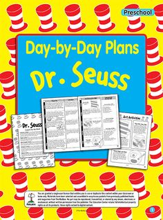 Centers, songs, crafts, literature, and math. All you need for a Seussical week of Dr Seuss!