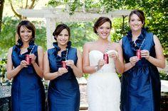 Hot Pink and Navy Georgia Wedding