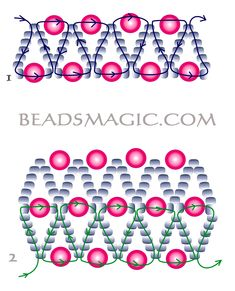 Free pattern for necklace Sonata | Beads Magic