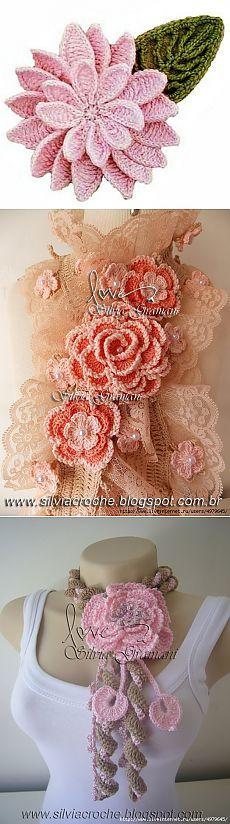 цветы крючком - Самое интересное в блогах