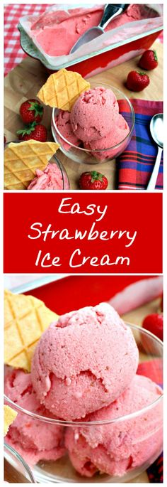 Easy Strawberry Ice