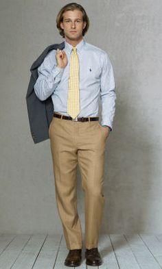 Straight-Fit Tic Weave Trouser - Polo Ralph Lauren Dress - RalphLauren.com