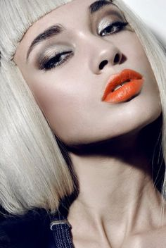 look i could use with the naked2 palette, and orange or coral pink lips