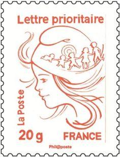 #philatélie] Nouveau timbre-poste Marianne 2013. Projets : la Marianne de Le Guillouzic © #LaPoste, DR.
